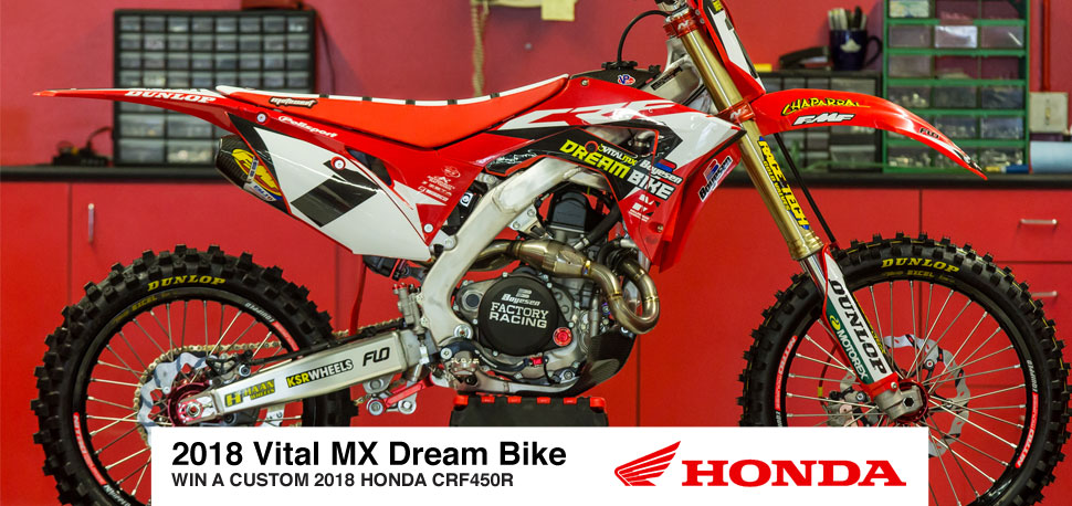 CONTEST: Honda CRF450R up for grabs